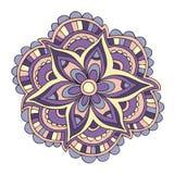 Sommerblume des Vektors violette dekorative Farb Stockfotos