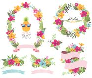 Sommerblumenkranz stock abbildung