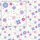Sommerblumenmuster - Illustration Stockfotografie