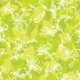 Sommerblumenmuster im Grün Stockbild