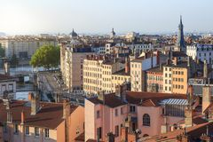 Sommerbohren in Lyon Stockfotos