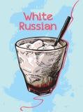 Sommercocktail weißer Russe Stockfotografie