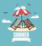 Sommerdesign, Vektorillustration Stockfotos