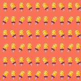 Sommereiscreme-Ikonenmuster Nahtloser Sommer stock abbildung