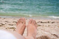 Sommerfüße lizenzfreies stockfoto