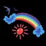 Sommerfarbe doodle2 lizenzfreie abbildung