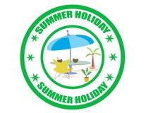 Sommerfeiertagaufkleber Stockfotos