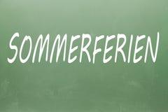 Sommerferien написанное на классн классном Стоковое Фото