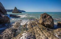 Sommerferien auf dem Conero-Park, adriatisches Meer Stockfotografie