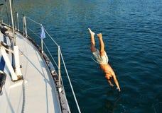 Sommerferien auf einer Yacht Stockfotos