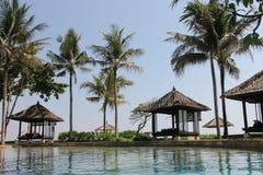 Sommerferien in Bali in einem Luxushotel Stockbild