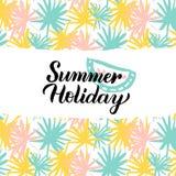 Sommerferien-Design Stockbild