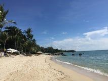 Sommerferien durch den Strand in Samui-Insel, Thailand Lizenzfreies Stockbild