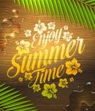 Sommerferien grüßend Stockbild