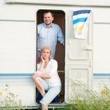 Sommerferien im Wohnmobil Stockfotos