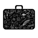 Sommerferien, Koffer für Ihre Auslegung Lizenzfreie Stockfotos