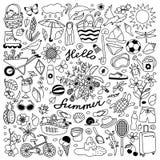 Sommerferien-Satz Stockfoto