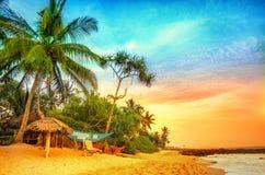 Sommerferien Sri Lanka Stockfoto