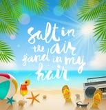 Sommerferien und Ferienillustration Lizenzfreie Stockfotos