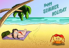 Sommerferienillustration Stockfotos