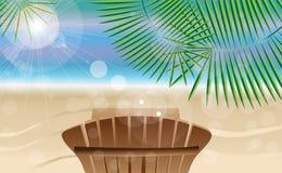 Sommerferienkarte Stockbild