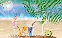 Sommerferienkarte Lizenzfreie Stockfotos