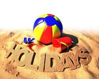 Sommerferienplakat Lizenzfreies Stockbild