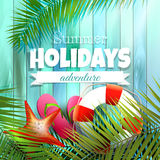 Sommerferienplakat Lizenzfreie Stockbilder