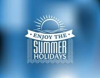 Sommerferienplakat oder -fahne Lizenzfreies Stockfoto
