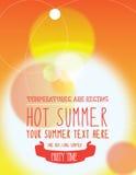 Sommerfest laden oder Plakat ein Stockfotografie