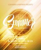 Sommerfest Schablonenplakat Auch im corel abgehobenen Betrag vektor abbildung