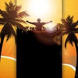 Sommerfestival-Plattenhintergrund Lizenzfreies Stockfoto