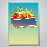 Sommerfestplakat stock abbildung
