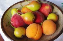 Sommerfrüchte in einer Schüssel lizenzfreies stockbild