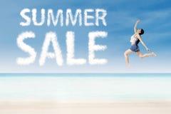 Sommerförderungskonzept Lizenzfreies Stockfoto