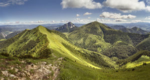 Sommergebirgsrücken in Mala Fatra National Park, Slowakei Lizenzfreie Stockfotos