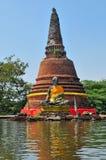 Sommergendosi in Ayutthaya, la Tailandia. Immagine Stock Libera da Diritti