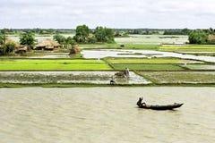 Sommergendosi nel delta Bangladesh, mutamenti climatici Immagini Stock Libere da Diritti