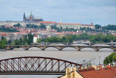 Sommergendosi a Praga Immagini Stock Libere da Diritti