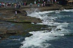Sommergendosi sul pilastro, Bali Fotografia Stock