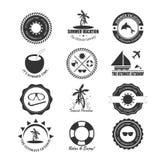 Sommergestaltungselemente und Typografiedesign lizenzfreie abbildung
