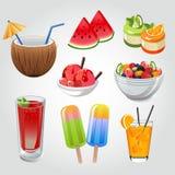 Sommergetränk und -Snack Lizenzfreie Stockfotografie