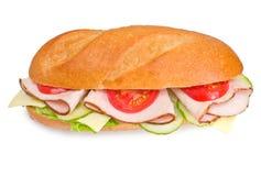 Sommergibile fresco del tacchino sandwic Fotografia Stock Libera da Diritti