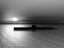 Sommergibile sul mare Fotografia Stock