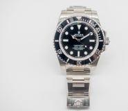Sommergibilista di Rolex su fondo bianco Immagini Stock Libere da Diritti