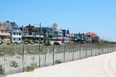 Sommerhäuser in Jersey-Ufer Stockfotografie