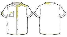 Sommerhemd mit kurzen Ärmeln Stockfotos