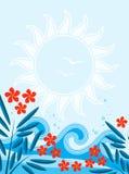 Sommerhintergrund stock abbildung