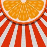 Sommerhintergrund mit orange Frucht Stockfotografie