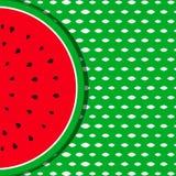 Sommerhintergrund mit Wassermelonenfrucht Lizenzfreie Stockfotografie